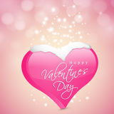 Happy Valentine's Day celebrations with 3D heart. Royalty Free Stock Photography