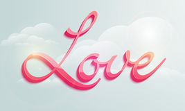 Happy Valentine's Day celebrations with 3D text. Stock Photography