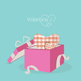 Happy Valentine's Day celebrations with gift box. Stock Images