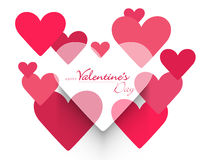 Happy Valentine's Day celebrations with heart. Royalty Free Stock Photography