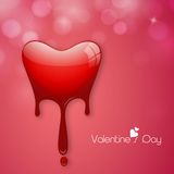 Happy Valentine's Day celebrations with heart. Royalty Free Stock Photos