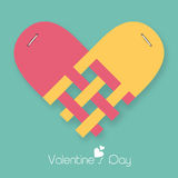 Happy Valentine's Day celebrations with heart shape. Royalty Free Stock Image