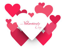 Happy Valentine's Day celebrations with hearts. Stock Photography