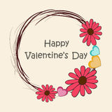 Happy Valentines Day celebrations with rounded frame. Stock Photo