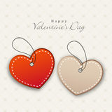 Happy Valentine's Day celebrations with tags. Stock Images