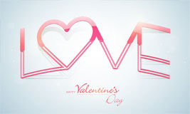 Happy Valentine's Day celebrations with text Love. Stock Image