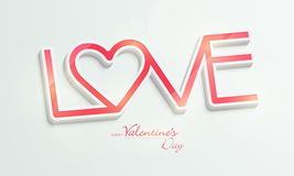 Happy Valentine's Day celebrations with text Love. Royalty Free Stock Images