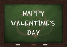Happy Valentine's day on chalkboard Stock Photos