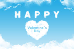 Happy Valentine's Day- cloud word Royalty Free Stock Photos