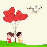 Happy Valentines Day concept with cute kids. Royalty Free Stock Image