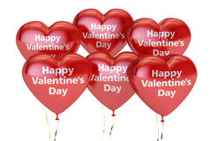 Happy Valentine`s day concept, inscription on the red heart  Royalty Free Stock Photo