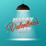 Happy Valentine's Day 3d inscription Stock Photo