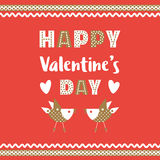 Happy Valentine`s day decoration. Fancy cartoon letters. Idea for banner to greeting card, festive party celebration background. Poster headline text to Royalty Free Stock Photo