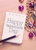 Happy valentine`s day with decoration. Royalty Free Stock Photos