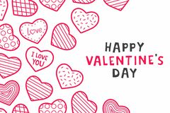 Happy Valentine`s day. background with hearts. Happy Valentine`s day. design for holiday greeting card, Valentine`s day and love day Royalty Free Stock Images