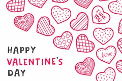 Happy Valentine`s day. background with hearts. Happy Valentine`s day. design for holiday greeting card, Valentine`s day and love day Royalty Free Stock Photos