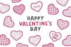 Happy Valentine`s day. background with hearts. Happy Valentine`s day. design for holiday greeting card, Valentine`s day and love day Royalty Free Stock Photography
