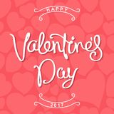 Happy Valentine`s Day design Royalty Free Stock Photography