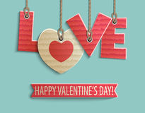Happy Valentine's day design Royalty Free Stock Photography