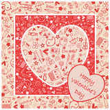 Happy Valentine`s day  - Doodles collection Stock Photography