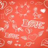 Happy Valentine`s Day elements Royalty Free Stock Photos