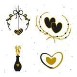 Happy Valentine`s Day elements for your design. Vector royalty free illustration