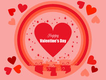 Happy Valentine`s Day. Festive background with gift boxes and hearts. Vector Royalty Free Stock Images