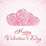 Happy Valentine's Day Floral Background Stock Photography