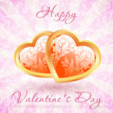 Happy Valentine's Day Floral Card Royalty Free Stock Images
