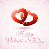 Happy Valentine's Day Floral Card Royalty Free Stock Image