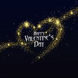 `Happy Valentine`s Day` font design, shiny gold components. `Happy Valentine`s Day` font design, shiny gold components,Black, gold, light objects Royalty Free Stock Photos