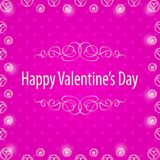 Happy Valentine's Day Frame. Royalty Free Stock Image