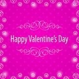 Happy Valentine's Day Frame. Royalty Free Stock Image