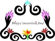 Happy Valentine's Day Framed Greeting Royalty Free Stock Photos