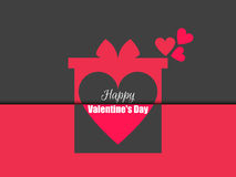 Happy Valentine`s Day. Gift box with hearts. Vector. Illustration Stock Photography