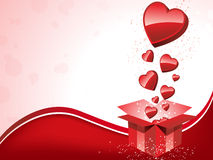 Happy Valentine's Day  Gift with Hearts Royalty Free Stock Images