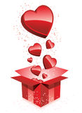 Happy Valentine's Day  Gift Hearts Stock Image