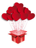 Happy Valentine's Day  Gift with Hearts Royalty Free Stock Image