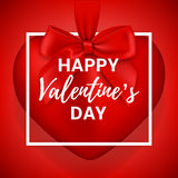 Happy Valentine`s Day gift red card Royalty Free Stock Images