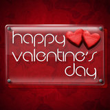 Happy Valentine's Day Glass Plate Royalty Free Stock Images