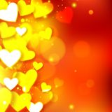 Happy Valentine's day  glow holiday background Royalty Free Stock Images