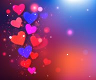 Happy Valentine's day  glow holiday background Stock Image