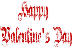 Happy Valentine's Day Gothic Script Stock Photography