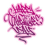 Happy Valentine´s Day Graffiti. Stock Photos