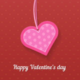 Happy Valentine's day greating card Royalty Free Stock Image