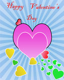 Happy valentine's day greeting. Happy valentine's day background with copy space in hearts vector illustration