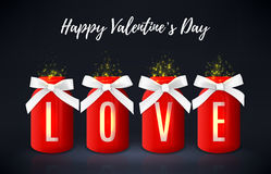 Happy Valentine`s Day greeting background Royalty Free Stock Images