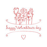 Happy Valentine's day. Greeting card Royalty Free Stock Photo