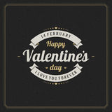 Happy Valentine's day Greeting Card and black Royalty Free Stock Image