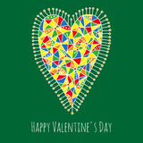 Happy Valentine's Day greeting card Royalty Free Stock Image